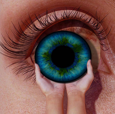 Surrealism Royalty-Free and Rights-Managed Images - Surreal Eye by Barroa Artworks