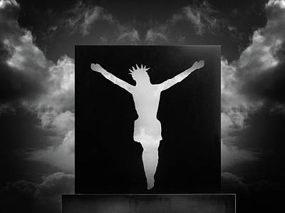 Surrealism Royalty-Free and Rights-Managed Images - Surreal Jesus by Mark Robert Davey