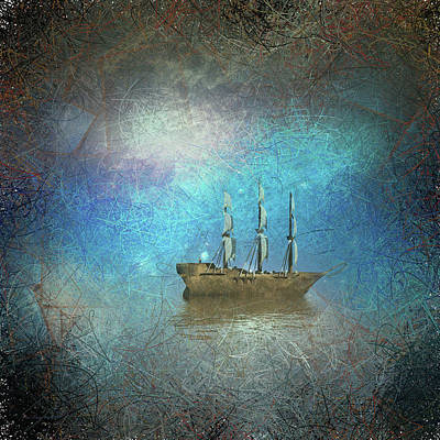 Surrealism Digital Art - Surreal sailboat by Bruce Rolff
