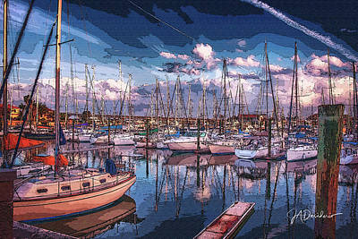 Surrealism Royalty-Free and Rights-Managed Images - Surreal Ships at Rest by Joseph Desiderio