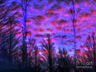 Surrealism Royalty Free Images - Surreal Sunset Royalty-Free Image by AnnMarie Parson-McNamara