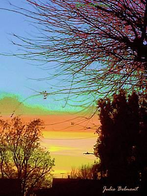 Digital Art - Surreal Sunset by Julie Belmont