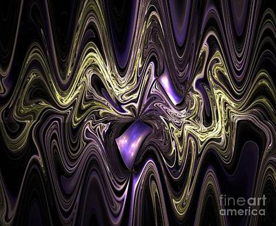 Surrealism Royalty-Free and Rights-Managed Images - Surreal wavy fractal by Beautiful Things