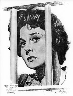 Drawings Royalty Free Images - Susan Hayward by Volpe Royalty-Free Image by Stars on Art