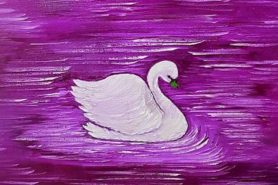 Claude Monet - Swan of beauty pink  by Angela Whitehouse