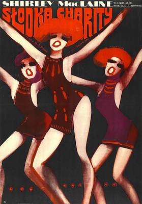 Mixed Media Royalty Free Images - Sweet Charity, with Shirley MacLaine, 1969 Royalty-Free Image by Stars on Art