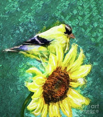 Fruits And Vegetables Still Life - Sweet Yellow Goldfinch  by Tina LeCour