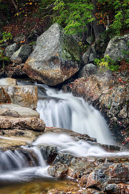 Dan Beauvais Royalty-Free and Rights-Managed Images - Swift River Cascade 4539 by Dan Beauvais