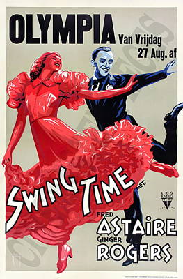 Royalty-Free and Rights-Managed Images - Swing Time, with Fred Astaire and Ginger Rogers, 1936 by Stars on Art