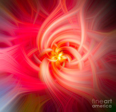 Lovely Lavender - Flower Abstract Swirl  by Dale Powell
