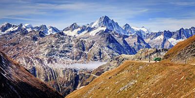 Global Design Shibori Inspired - Swiss Alps by Alexey Stiop