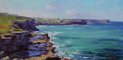 Royalty-Free and Rights-Managed Images - Sydney coastline by Graham Gercken