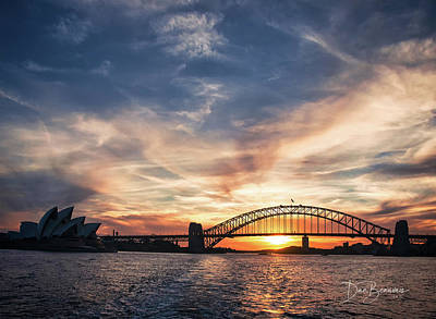 Dan Beauvais Royalty-Free and Rights-Managed Images - Sydney Harbour Sunset 4531 by Dan Beauvais