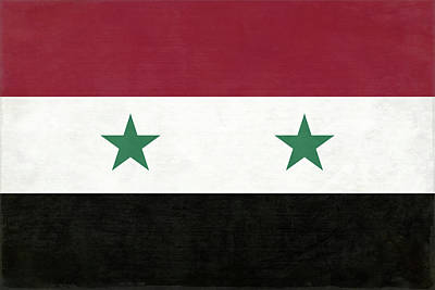 Animal Portraits - Syria Flag by Leslie Montgomery