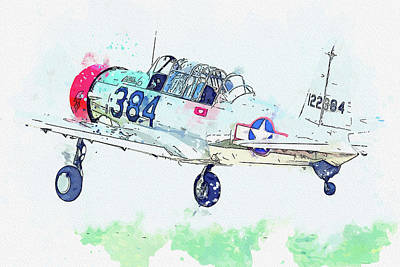 Rowing - T-A Valiant N USAAF Lucky Last Military Serial USAAF Vintage Aircraft - Classic War Birds - Planes w by Celestial Images