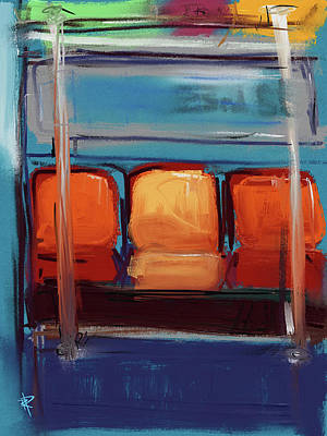 Movies Star Paintings - Take a seat by Russell Pierce