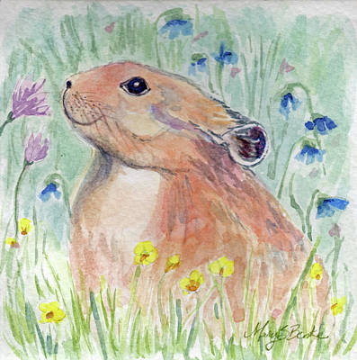 Painting - Take Time to Smell the Flowers by Mary Benke