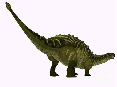 Animal Paintings David Stribbling - Talarurus Dinosaur Tail by Corey Ford