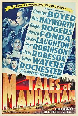 Royalty-Free and Rights-Managed Images - Tales of Manhattan, 1942 by Stars on Art