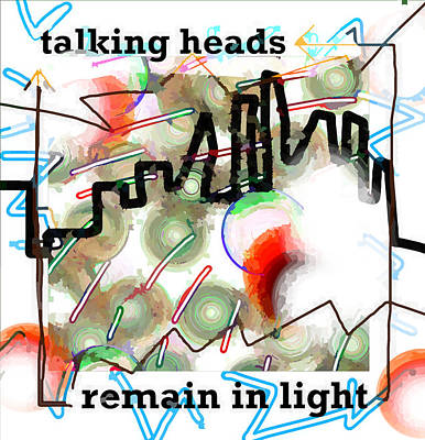 Musicians Drawings - Talking Heads 1980 by Enki Art