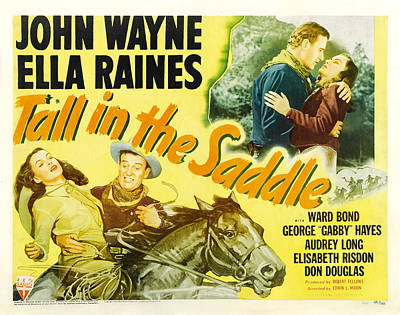 Royalty-Free and Rights-Managed Images - Tall in the Saddle, with John Wayne and Ella Raines, 1944 by Stars on Art