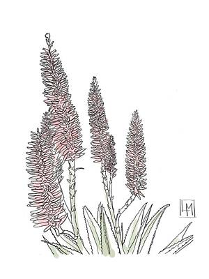 Target Threshold Watercolor - Tall Pink Pokers by Luisa Millicent