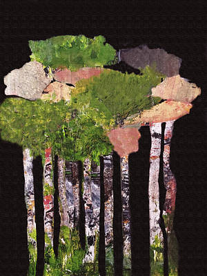 Mixed Media Royalty Free Images - Tall Tall Trees Royalty-Free Image by Sharon Williams Eng