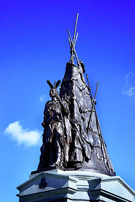 Royalty-Free and Rights-Managed Images - Tammany Regiment Monument - Detail by Paul W Faust - Impressions of Light