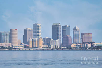 Katharine Hepburn - Tampa City Waterscape by Diann Fisher