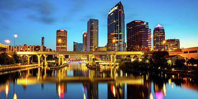 Royalty-Free and Rights-Managed Images - Tampa Florida Skyline Panorama at Dawn by Gregory Ballos