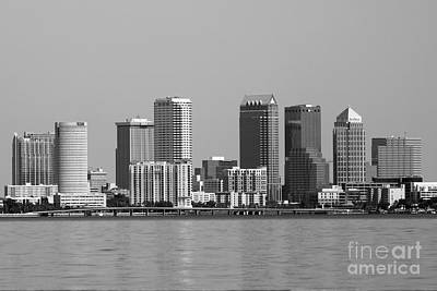 Abstract Graphics - Tampa from the Bay by Diann Fisher