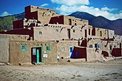 Ira Marcus Royalty-Free and Rights-Managed Images - Taos Pueblo by Ira Marcus