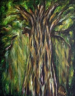 Painting - Taotaomo'na Tree in Rota by Michelle Pier
