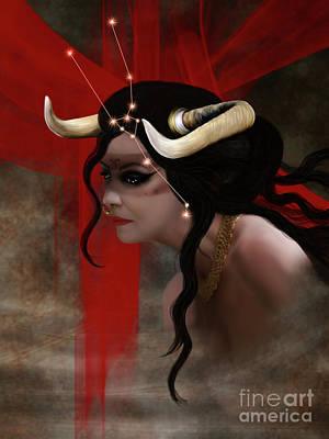 Digital Art - Taurus by Babette Van den Berg