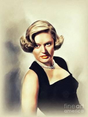 Painting - Teala Loring, Vintage Actress by John Springfield