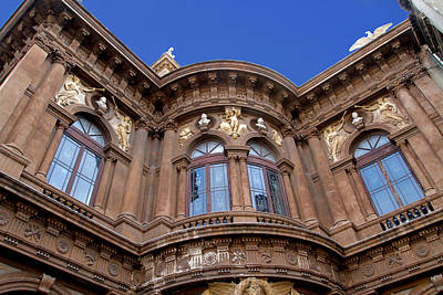 Abstract Oil Paintings Color Pattern And Texture - Teatro Massimo Bellini, Catania, Sicily by Joe Vella
