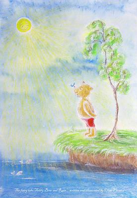 Painting - Teddy Bear and Rain by Olga Verasen