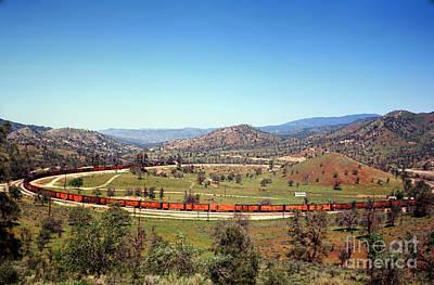 Caravaggio - Tehachapi Loop, ATSF Train by Wernher Krutein