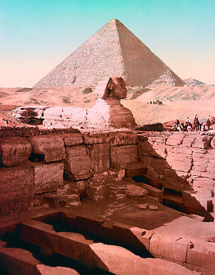 Royalty-Free and Rights-Managed Images - Temple Of The Sphinx - Cairo Egypt - Circa 1900 Photochrom by War Is Hell Store