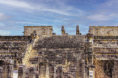 Digital Art - Temple Of The Warriors In Chichen Itza by Mike Braun