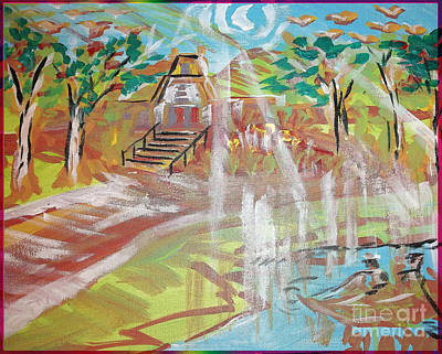 Animals Paintings - Temple-Sojourn by Ayyappa Das