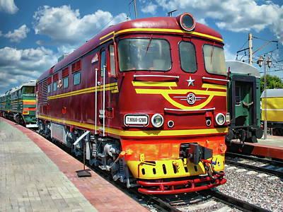 Lovely Lavender - TEP60 Diesel Locomotive by Anthony Dezenzio