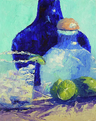 Painting - Tequila Bottles by Terry Chacon