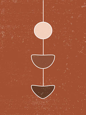 Royalty-Free and Rights-Managed Images - Terracotta Abstract 24 - Modern, Contemporary Art - Abstract Organic Shapes - Brown - Pendulum by Studio Grafiikka