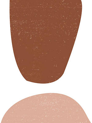 Royalty-Free and Rights-Managed Images - Terracotta Abstract 47 - Modern, Contemporary Art - Abstract Organic Shapes - Brown, Burnt Sienna by Studio Grafiikka