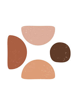 Ethereal - Terracotta Abstract 50 - Modern, Contemporary Art - Abstract Organic Shapes - Pebbles - Brown by Studio Grafiikka
