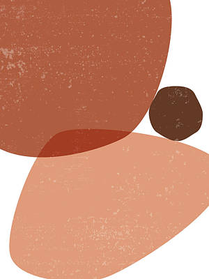 Royalty-Free and Rights-Managed Images - Terracotta Abstract 72 - Modern, Contemporary Art - Abstract Organic Shapes - Minimal - Brown by Studio Grafiikka