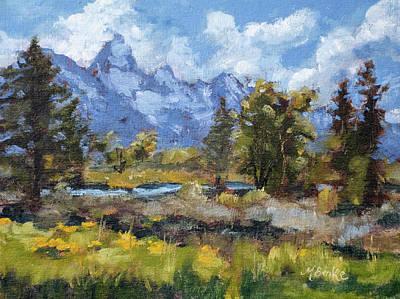 Painting - Teton Morning by Mary Benke