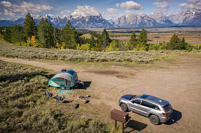 Photograph - Teton View Campsite by Jennifer Grover