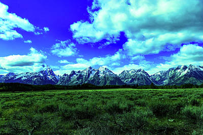 Curated Travel Chargers - Tetons in the distance by Jeff Swan